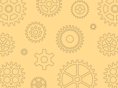 Floating Cogs repeatable svg yellow hero patterns pattern cog