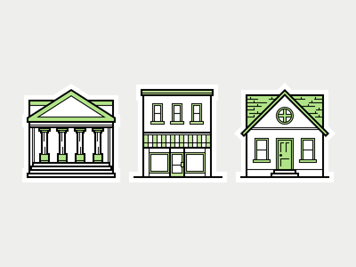 Heroicons  building library shop store front home house icon set icons