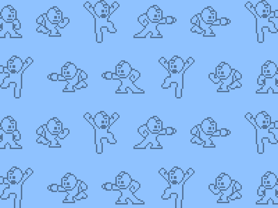 Bitmap Mega Man Hero Pattern pixels bitmap svg patterns mega man hero patterns