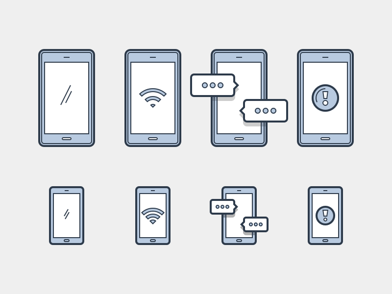 Mobile Devices heroicons svg icons screen chat wifi phone devices mobile