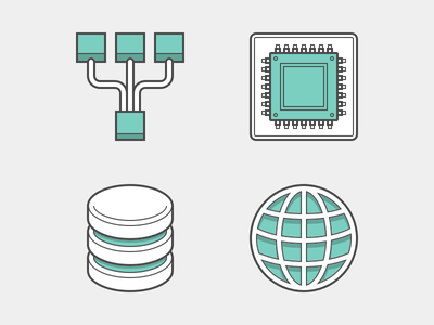 Heroicons network database ram memory load balancer