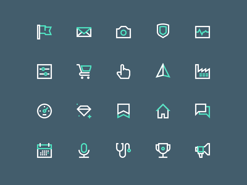 Icons icon set svg lines icons