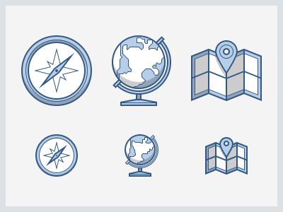 Travel Heroicons heroicons icon set icons compass globe map travel explore