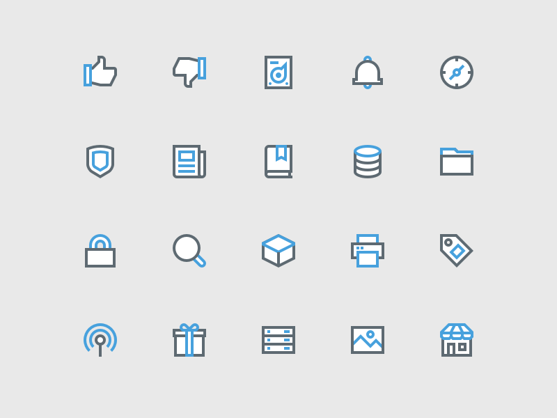 Icons vector lines svg icon set icons