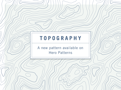 Topography free pattern css hero patterns svg pattern topography