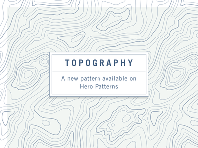 Topography free pattern css hero patterns svg pattern topography