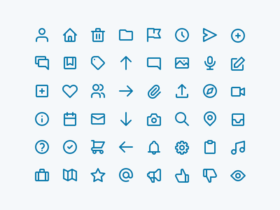 Icons blue icon set line icons icons
