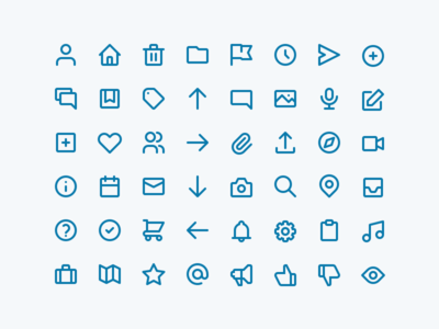Icons blue icon set line icons icons