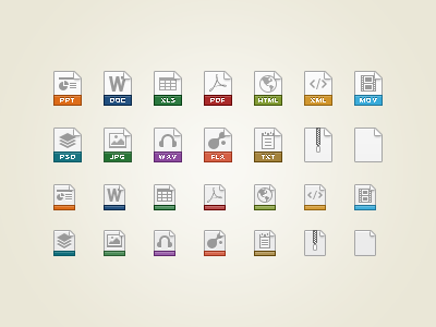File Type Icons icons file type 32 24