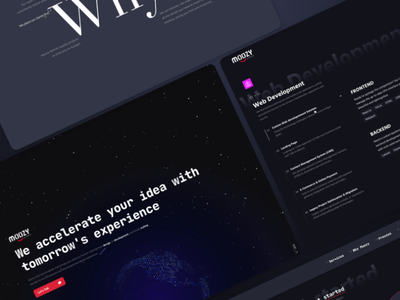 Landing page for Dev Studio web star dark landing landing design landing page