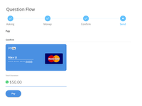 A Pay with card UI