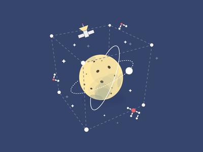 The stars illustrations typography illustration