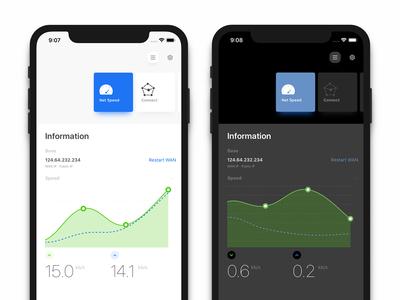 a Netwrok App And iOS 13 Dark Mode