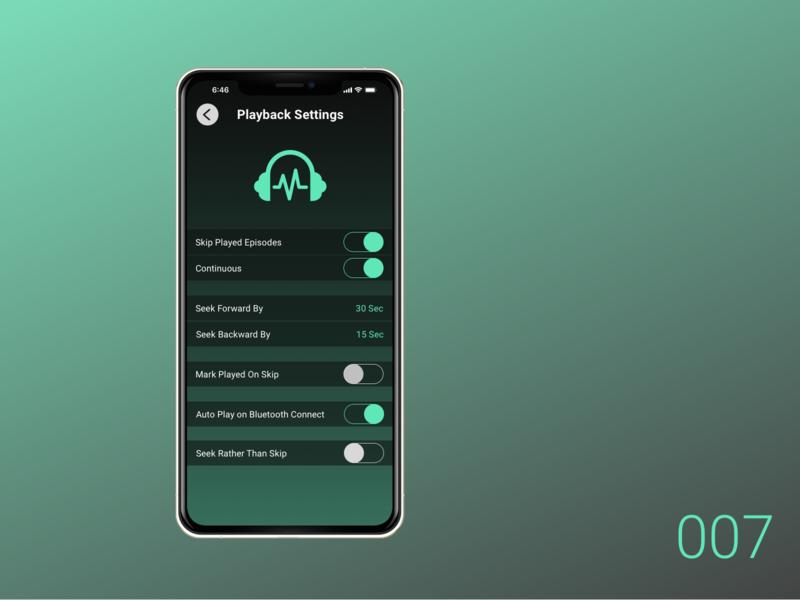 Daily UI 007 - Settings dailyui app userinterface design ui