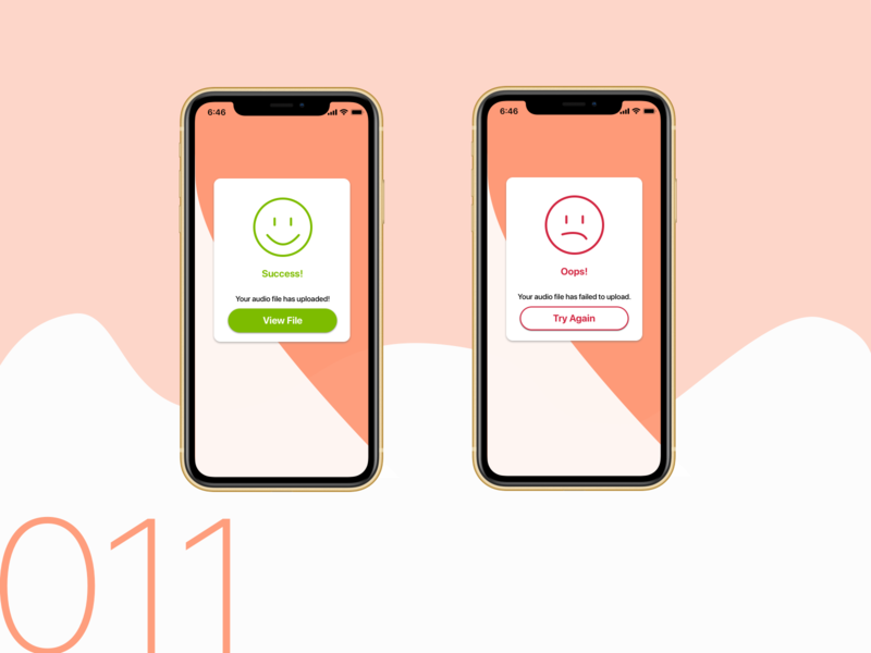 Daily UI 011 -    Flash Message dailyui userinterface app branding design ui