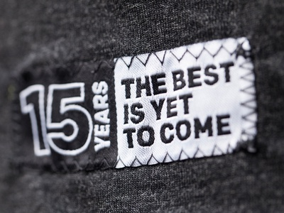 15 Years Woven Tag