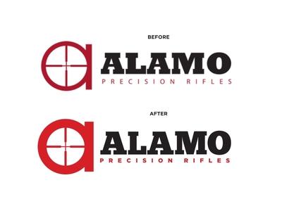 Logo Rework firearms guns reticule optic scope gotham chunkfive branding logo rifles precision alamo