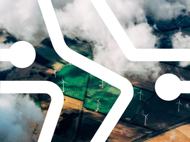 Aerial photo clouds sky aerial logo branding