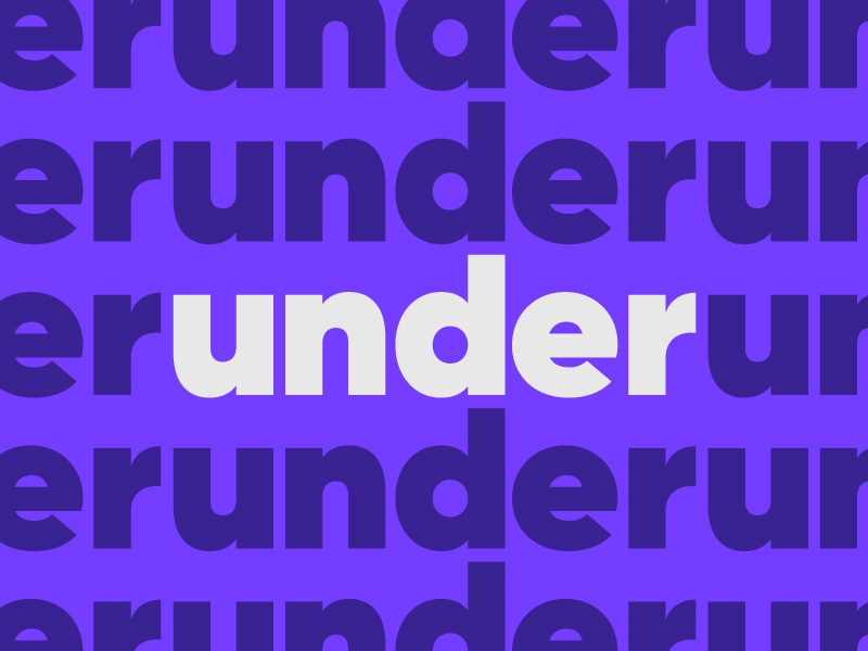 Under what? purple font typography type under gilroy