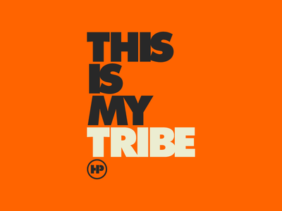 This Is My Tribe highway orange working class blue collar futura