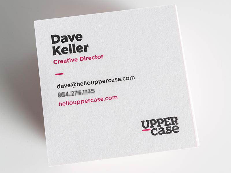 Uppercase Business Cards marketing brand logo fuschia gotham neutraface slab serif u business cards moo cards uppercase