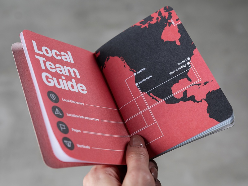 Facebook's Local Team Booklet underbelly book layout design guide san francisco map paper local team scout books booklet editorial layout print facebook