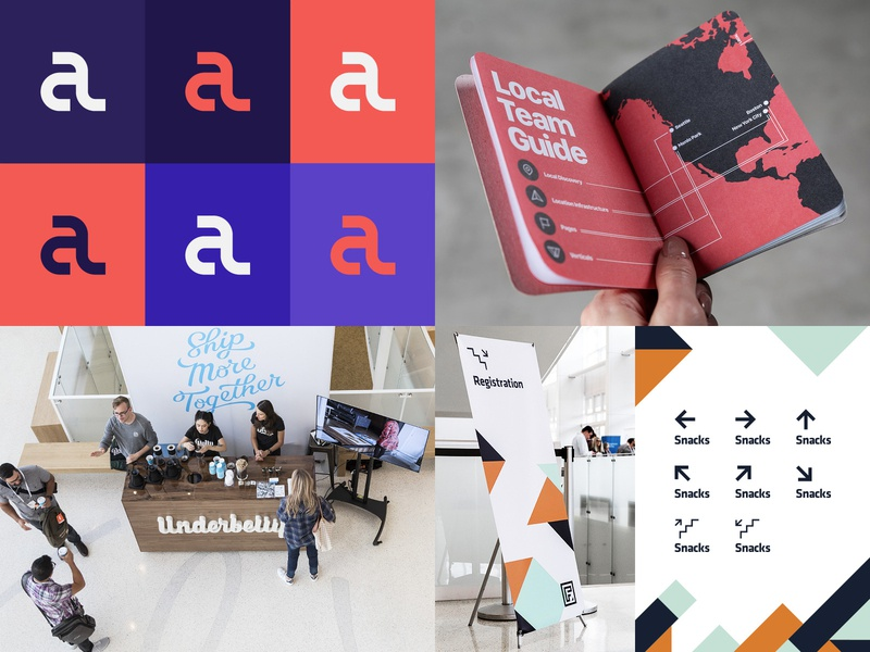 2018 scout books editorial typography non profit underbelly facebook conference signage wayfinding branding print logo