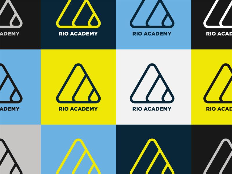Rio Academy One Color mark rebrand jiu-jitsu bjj logo rio de janeiro rio gym workout martial arts grappling branding brand ocean
