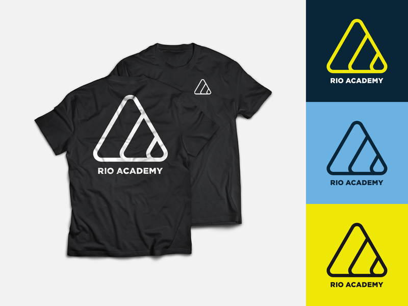 Rio Academy T-Shirt t-shirt design tshirt mark rebrand jiu-jitsu bjj logo rio de janeiro rio gym workout martial arts grappling branding brand ocean overlay
