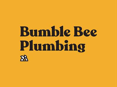 Bumble Bee Plumbing: First Round plumber design agency underbelly plumbing bumble bee bee typography graphic design logo design logo branding design branding