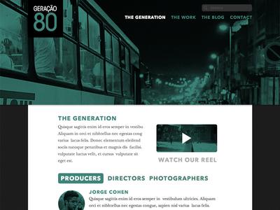 GERAÇÃO 80 Monochrome Site