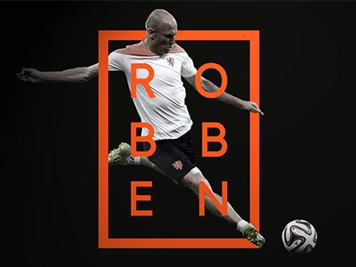 Arjen Robben branding smooth simple football hipster graphic icon mark logo design fifa robben
