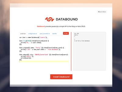 Databound Simple & Clean Web Design