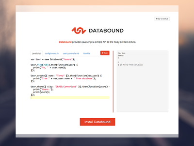 Databound Simple & Clean Web Design web design ui bootstrap code dashboard script ruby clean simple