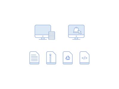 E-commerce Icon Exploration shopify sell web e-commerce icons