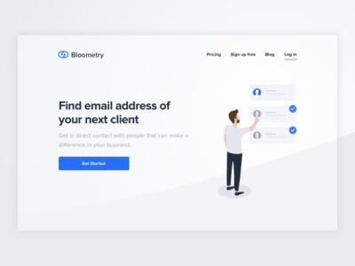 Bloometry Landing Page
