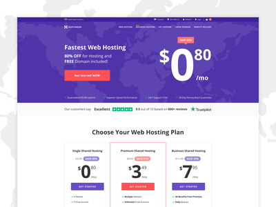 Landing Page V2 - Hostinger user-interface page hosting hostinger landing page landing ux  ui ux design cta