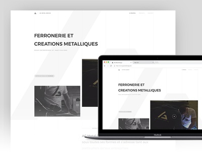 AG Metal Design - New website white minimalist metal ag design web