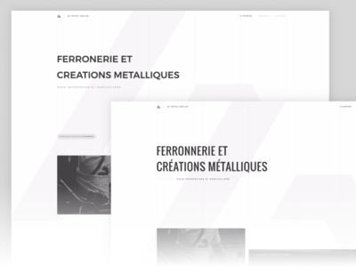 AG Metal Design - Font changes font white minimalist metal ag design web