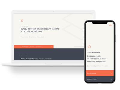 Landing Page — Bureau Dessin Debroux mobile landing web ui design
