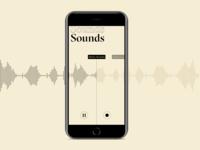SoundSound outline minimal listen sound concept idea app ui mobile app mobile