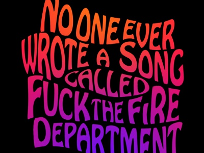 No One Every Wrote A Song... (Psychedelic) psychedelic sixties seventies text typography retro design