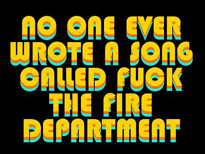 No One Ever Wrote A Song... (Retro) text retro design typography