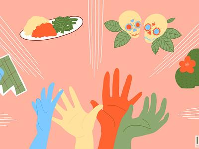 Border Community Alliance - Designated Donations nonprofit web illustration design illustration