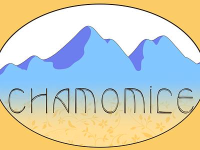 Chamomile retro label design typography design
