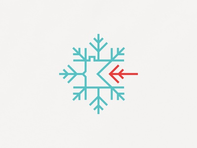 Chill Out Challenge arrow outdoors branding ice winter frost snow mark logo frozen outside adventure state snowflake cold minnesota mn challenge out
