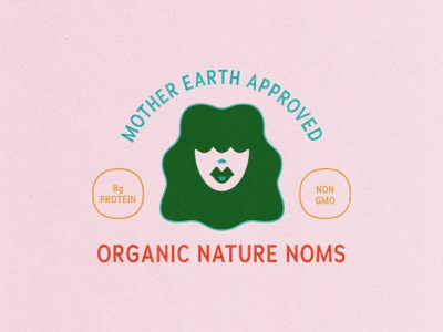 Mother earth approved woman face landscape vector branding water illustration granola hippy organic earth mother nature mother mountains lake sun lanscape outdoors icon nature