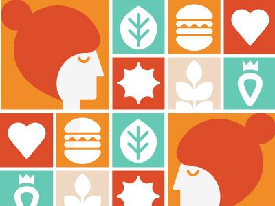 Patterns happy eco healthy yoga grid pattern food wellness