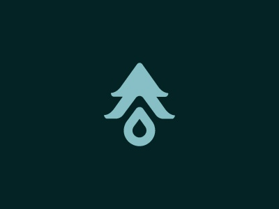 Wood & Water logo elements nature craft wood working tree water wood