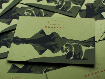 Glacier National Park illustration hiking outdoors mountains bear national park glacier